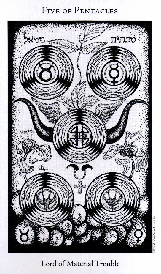 5 Пентаклей The Hermetic Tarot