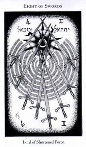 8 Мечей The Hermetic Tarot