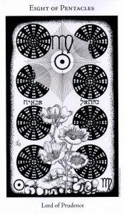 8 Пентаклей The Hermetic Tarot