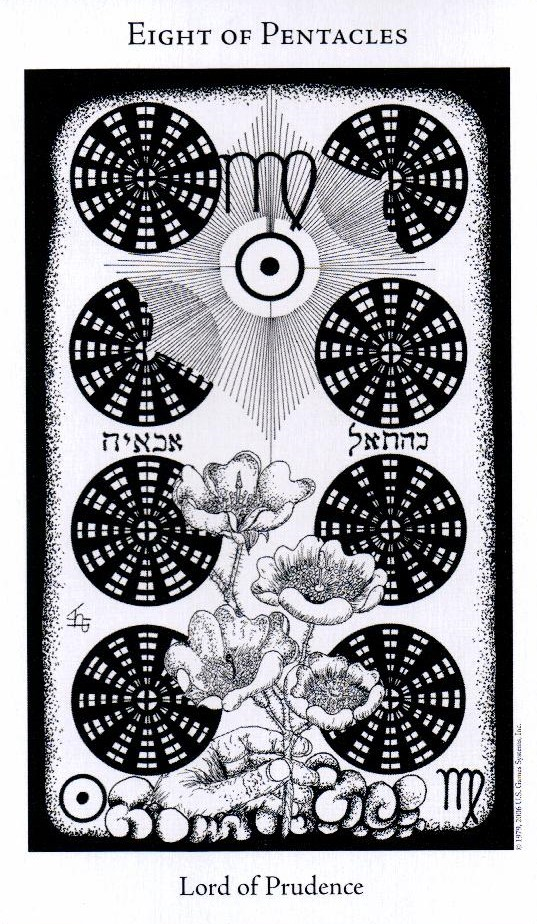 8 Пентаклей The Hermetic Tarot