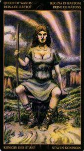 Королева Жезлов Таро Возрождения 2012Tarot of Ascension