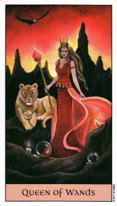 Королева Жезлов Crystal Visions Tarot