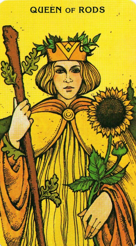 Королева Жезлов Morgan - Greer Tarot