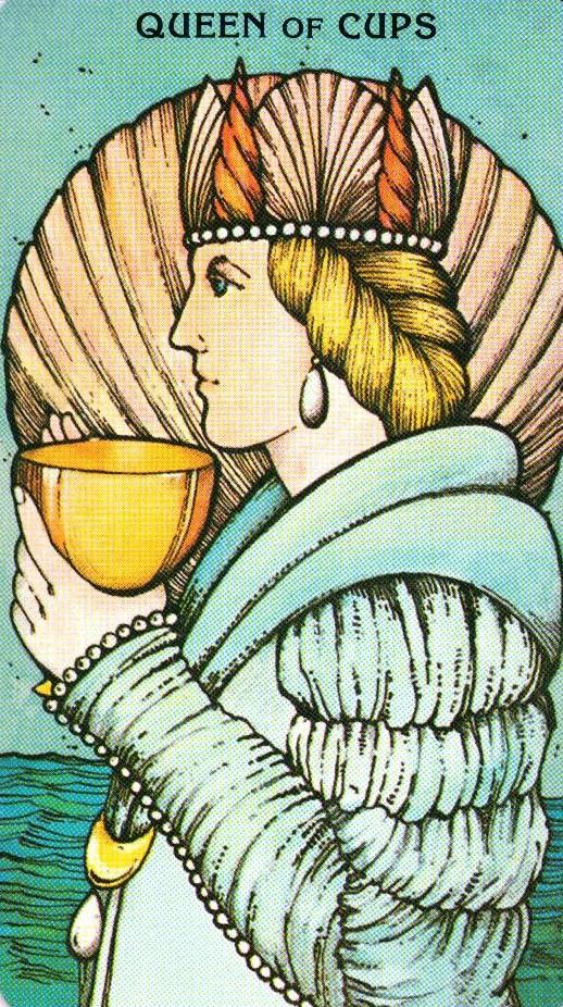 Королева Кубков Morgan - Greer Tarot