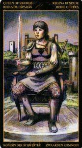 Королева Мечей Таро Возрождения 2012Tarot of Ascension