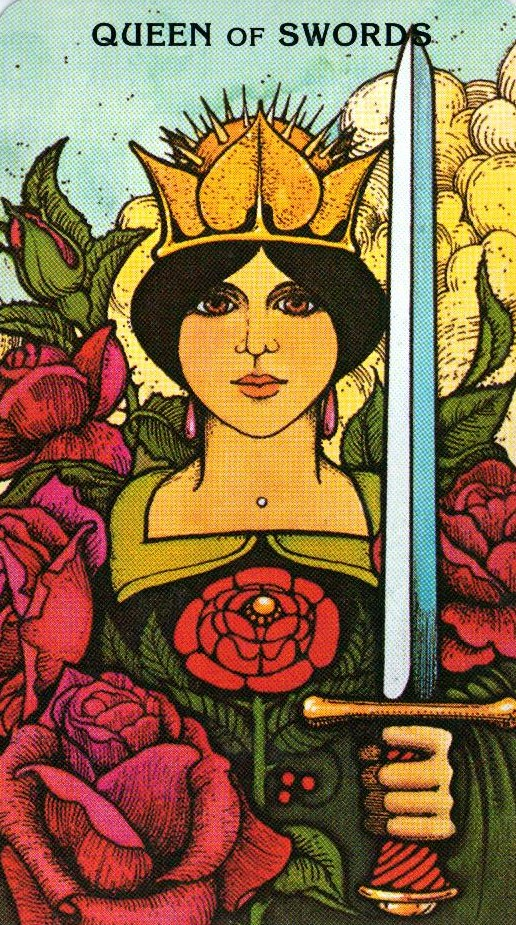 Королева Мечей Morgan - Greer Tarot