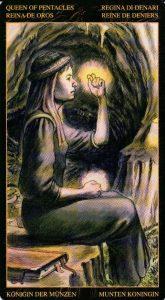 Королева Пентаклей Таро Возрождения 2012Tarot of Ascension