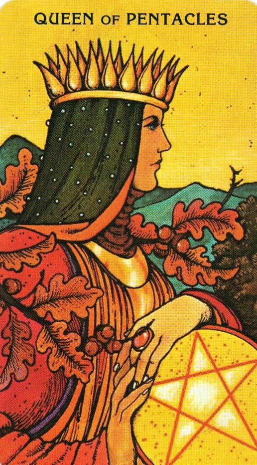 Королева Пентаклей Morgan - Greer Tarot