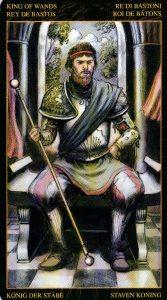 Король Жезлов Таро Возрождения 2012Tarot of Ascension