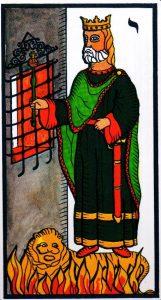 Король Жезлов El Gran Tarot Esoterico Fournier