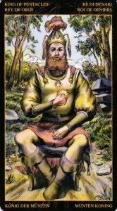 Король Пентаклей Таро Возрождения 2012Tarot of Ascension
