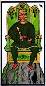 Король Пентаклей El Gran Tarot Esoterico Fournier