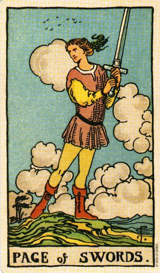 Паж Мечей The Smith-Waite Tarot Centennial Edition