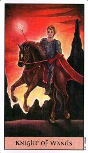 Рыцарь Жезлов Crystal Visions Tarot