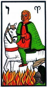 Рыцарь Жезлов El Gran Tarot Esoterico Fournier