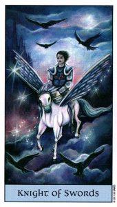 Рыцарь Мечей Crystal Visions Tarot