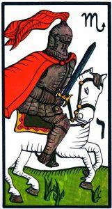 Рыцарь Мечей El Gran Tarot Esoterico Fournier