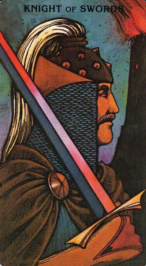 Рыцарь Мечей Morgan - Greer Tarot