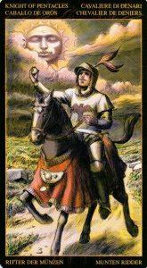 Рыцарь Пентаклей Таро Возрождения 2012Tarot of Ascension