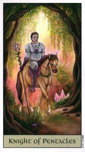 Рыцарь Пентаклей Crystal Visions Tarot