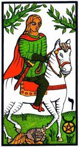 Рыцарь Пентаклей El Gran Tarot Esoterico Fournier