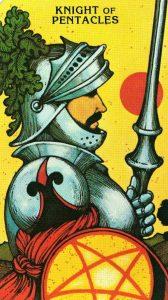 Рыцарь Пентаклей Morgan - Greer Tarot