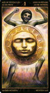 Туз Пентаклей Таро Возрождения 2012Tarot of Ascension