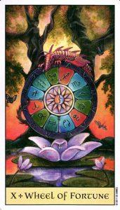 10 Колесо Фортуны Crystal Visions Tarot