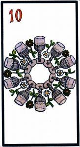 10 Кубков El Gran Tarot Esoterico Fournier