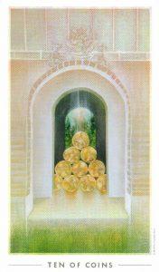 10 Монет The Fountain Tarot