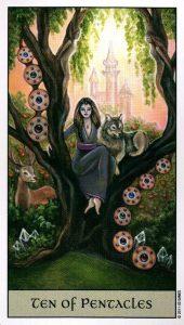10 Пентаклей Crystal Visions Tarot