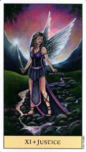 11 Справедливость Crystal Visions Tarot