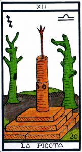 12 Аркан Позорный столб El Gran Tarot Esoterico Fournier