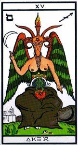 15 Аркан Дьявол El Gran Tarot Esoterico Fournier