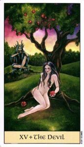 15 Дьявол Crystal Visions Tarot