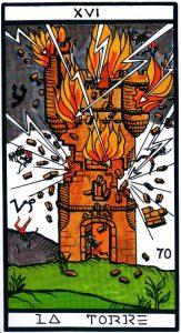 16 Аркан Башня El Gran Tarot Esoterico Fournier