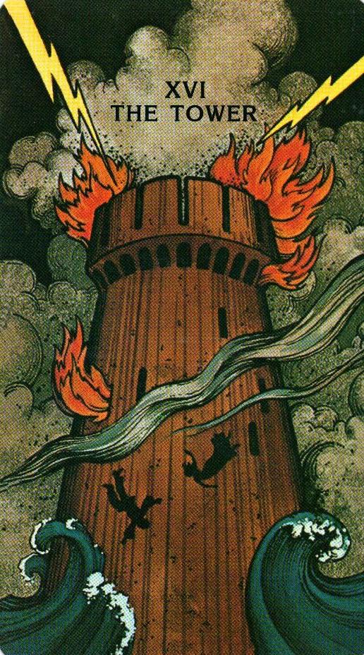 16 Аркан Башня Morgan - Greer Tarot