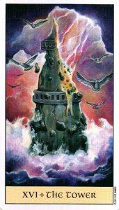 16 Башня Crystal Visions Tarot