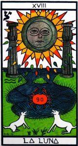 18 Аркан Луна El Gran Tarot Esoterico Fournier