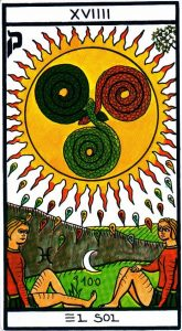 19 Аркан Солнце El Gran Tarot Esoterico Fournier