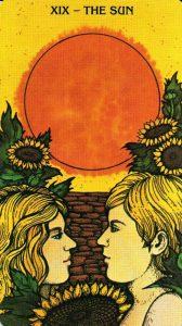 19 Аркан Солнце Morgan - Greer Tarot