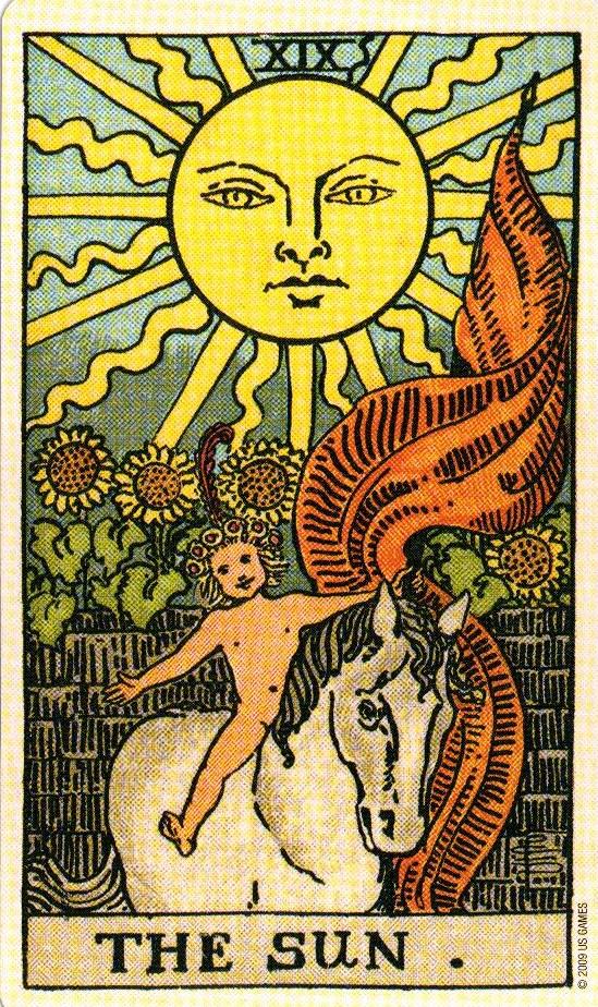 19 Аркан Солнце The Smith-Waite Tarot Centennial Edition