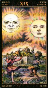 19 Солнце Таро Возрождения 2012Tarot of Ascension