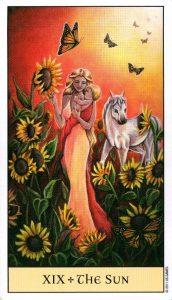 19 Солнце Crystal Visions Tarot