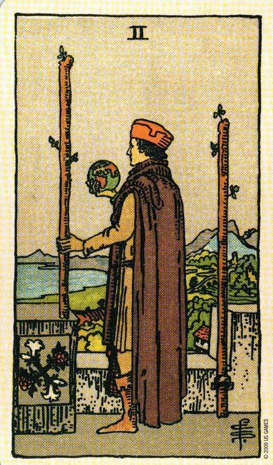 2 Жезлов The Smith-Waite Tarot Centennial Edition