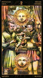 2 Пентаклей Таро Возрождения 2012Tarot of Ascension