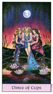 3 Кубков Crystal Visions Tarot