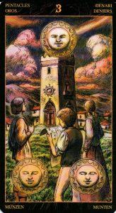 3 Пентаклей Таро Возрождения 2012Tarot of Ascension