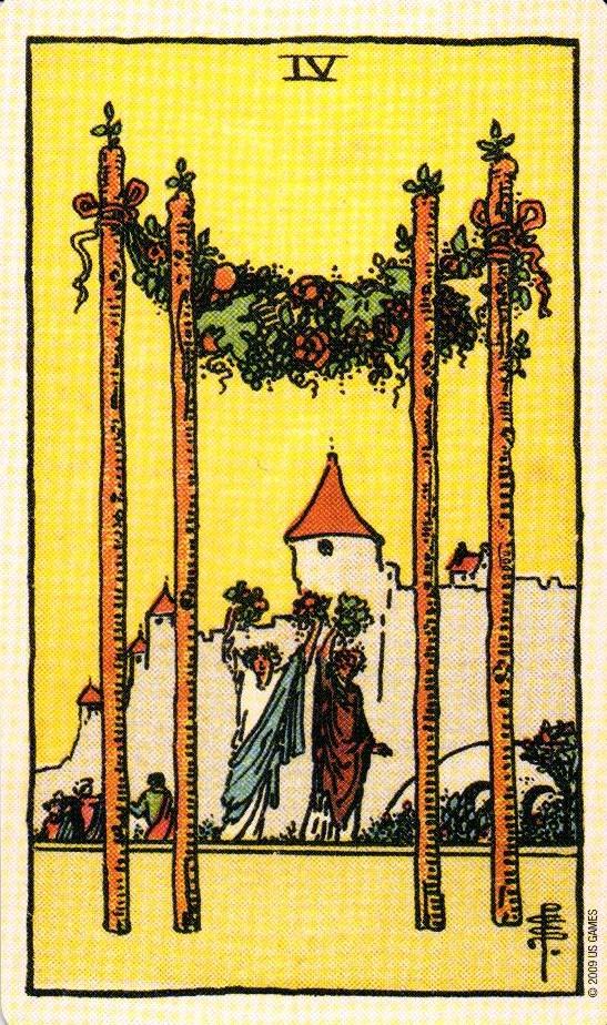 4 Жезлов The Smith-Waite Tarot Centennial Edition