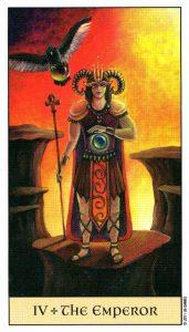 4 Император Crystal Visions Tarot